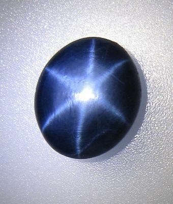 Gorgeous Designer 6 Rays Star Royal Blue Sapphire Oval Cabochon Bollywood Stone