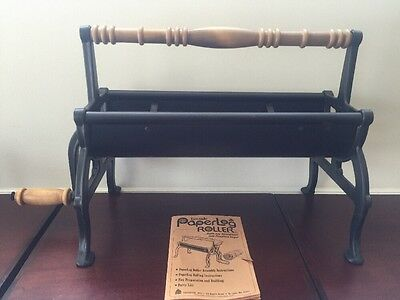 Vintage Fireside Paperlog Roller with Log Ties and Manual