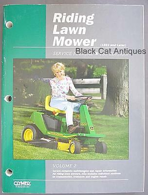 Original Clymer Riding Lawn Mower Service Manual 1st Edition Vol. 2 1992 & Later