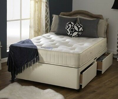 Happy Beds Divan Bed Set Ortho Royale Orthopaedic Mattress 4 Drawers 5' King x