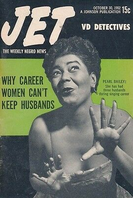 Jet Magazine October 30 1952 Pearl Bailey 1st Cover Career women keep husbands?