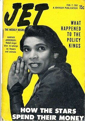 Jet Magazine February 7 1952 What Happened to Numbers Kings? Marian Anderson