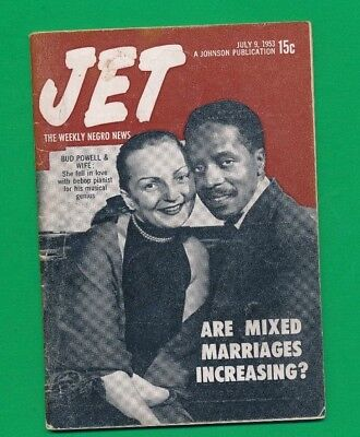 JET MAGAZINE July 9 1953 Mixed mrriages increasing Bud Powell Bebop Pianist