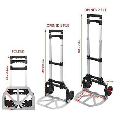 Portable Folding Hand Truck Dolly Luggage Carts,150 lbs Capacity MY8L
