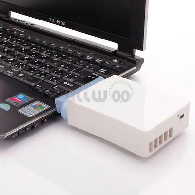 Vacuum USB Powerful Cooler Laptop Air Extracting Cooling Pad Fan White Universal