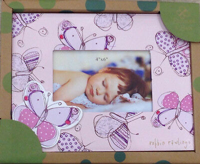 Carte Blanche Blossom & Buds Wooden Butterflies Baby Photo Frame - Purple