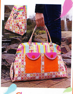PATTERN - Sleepover - stylish fabric overnight bag PATTERN - Melly & Me