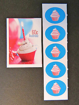 2012 Australian Stamps - Precious Moments - Cupcake-Single P&S with Stickers MNH