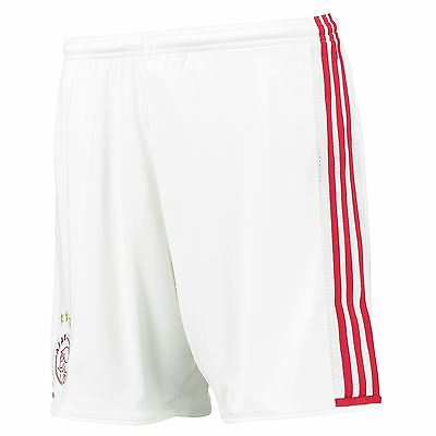adidas Mens Gents Football Soccer Ajax Home Shorts Bottoms Season 2016-17