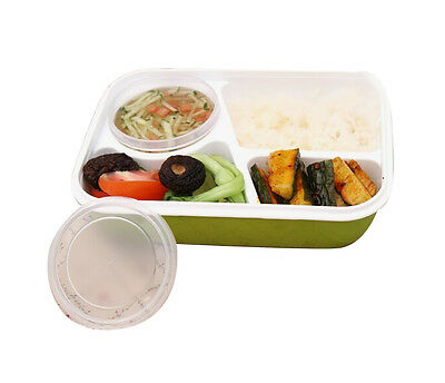 Leakproof Rectangular Lunch Bento ,Microwave Food Container 4 separate spaces US