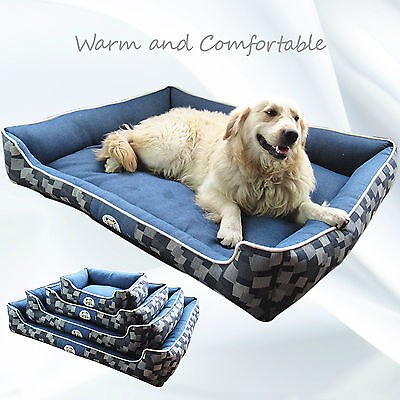 Lovely Luxury Puppy Pets Dog Cat Basket Bed Cushion Pillow Mat M L XL XXL 4 Size