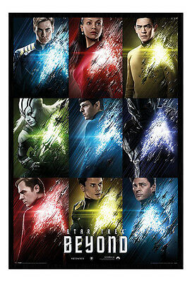 Framed Star Trek Beyond Film Movie Characters Poster New