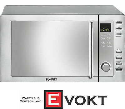 Bomann MWG2281HCB Microwave Oven With Grill & Convection Stainless Steel Genuine