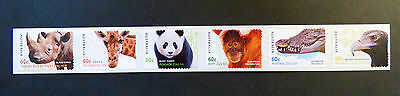 Australian Decimal Stamps: 2012 Australian Zoos - 150 Years - Set of 6 P&S MNH
