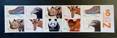Australian Decimal Stamps: 2012 Australian Zoos - 150 Years - Set of 10 P&S MNH