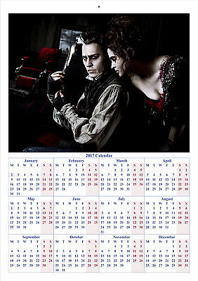 Sweeney Todd The Demon Barber - 2017 A4 CALENDAR **BUY ANY 1 AND GET 1 FREE**