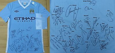2011-12 Man City Home Shirt Signed by Squad with Official COA AGUEROOO!!! (8614)