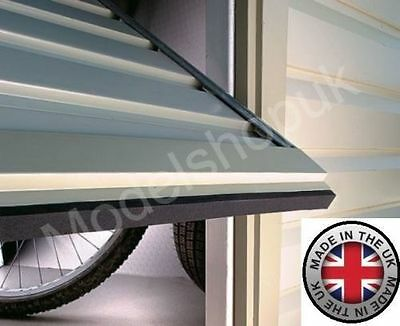 Garage Door Dirt Catcher Adhesive Strip Draught Excluder Stops Leaves and Litter