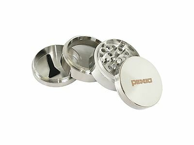 "Herb Grinder Crusher for Tobacco 4 Piece 2"" Metal Hand Muller Spice Silver 4pc"