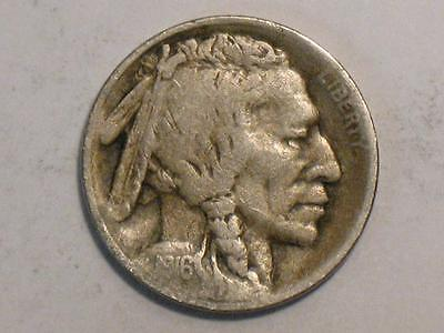 1916-S Buffalo Nickel - Indian Head Bison - United States Coin