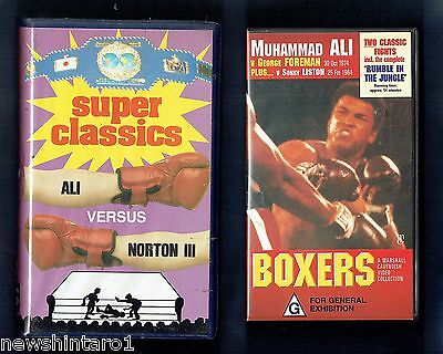 #zz6.  Eight(8)  Boxing  Vhs Video Tapes