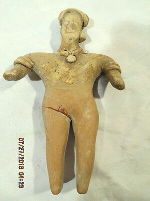 Pre-Columbian Standing Female Terracotta Figure AD