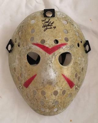 TED WHITE Signed Hockey Mask Jason Voorhees Friday the 13th Part 4 Autograph