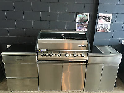 Jackeroo stainless steel 6 burner bbq with cover aud 167 for Sunco bbq