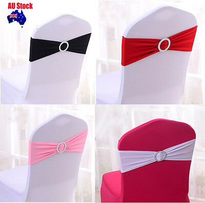 100/50 Lycra Spandex Chair Cover Bands Sashes+Round buckle Wedding Event Banquet