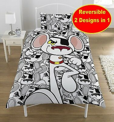 New Danger Mouse 'penfold' Single Duvet Quilt Cover Set Boys Kids Bedroom Bed