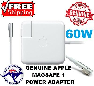 Genuine 60W AC Power Adapter charger Magsafe1 L for Apple Mac Macbook Pro
