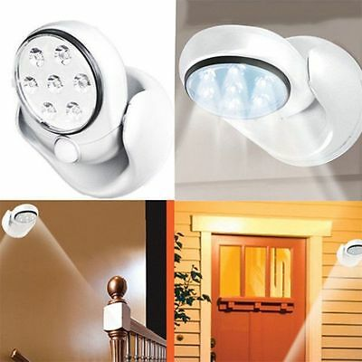 LED Motion Light Activated Sensor Indoor Outdoor Cordless Patio Wall Adjustable