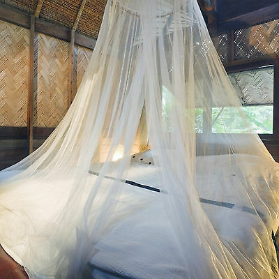 Effective Mosquito Net Double King Size White Bed Canopy 12 Meters Full Covearge