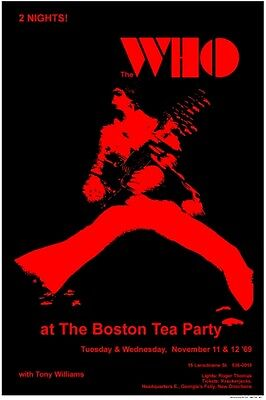 The Who  1969 concert box office POSTER   Boston Tea Party