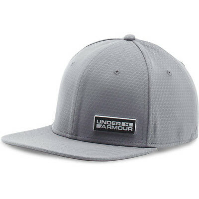 Under Armour Embossed Flat Str Mens Headwear Cap - Graphite All Sizes