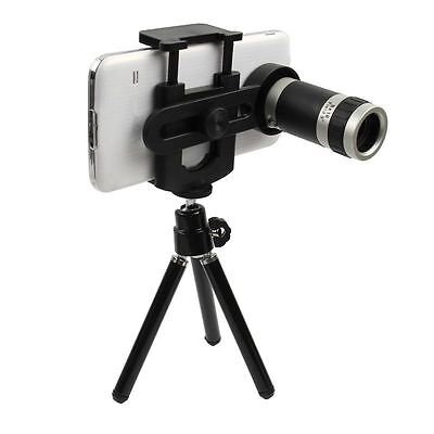Universal 8x Zoom Cell Phone Camera Lens Telescope Telephoto+Tripod Holder Stand
