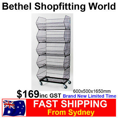 Collapsible 5 Baskets Stand For Fruit & Veg, Supermarket, Toys Store Brand NEW!