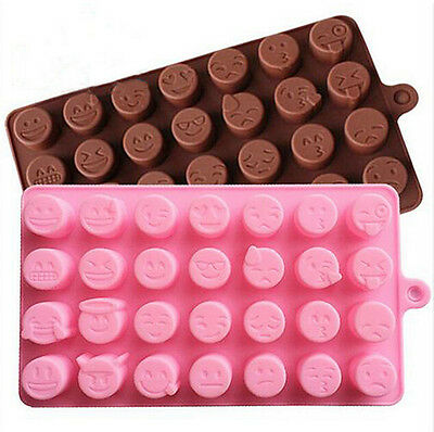 Ice Emoji Candy Baking Expression Silicone Chocolates Mold New Arrival Cake