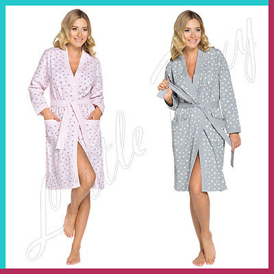 Comfy and Stylish Maternity Robe Womens Ladies Dressing Gown Bath Wrap Housecoat