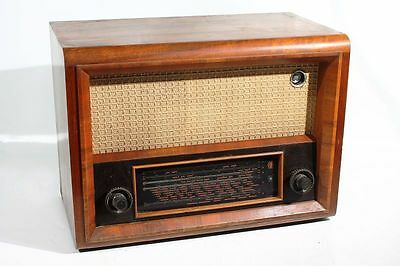 Altes AT Super 660 Radio DDR Vintage Holz Retro