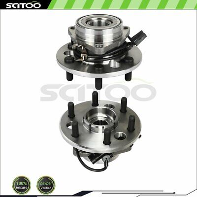 2 Front Wheel Hub & Bearing Assembly for Chevy GMC Pickup Truck Tahoe w/ABS 4WD