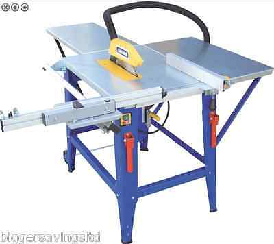 """Charnwood W625P 12"""" Contractors Table Saw - Extension And Sliding Carriage"""