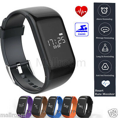Smart Watch Uhr R1 Sport Bluetooth Heart Rate Monitor Pedometer Fitness Armband