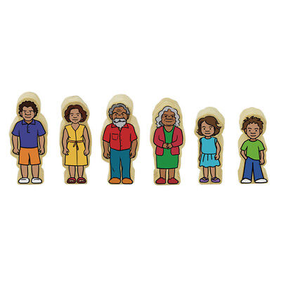 Aboriginal Indigenous FAMILY Wooden 6 Figurines MULTICULTURAL Educational TOY