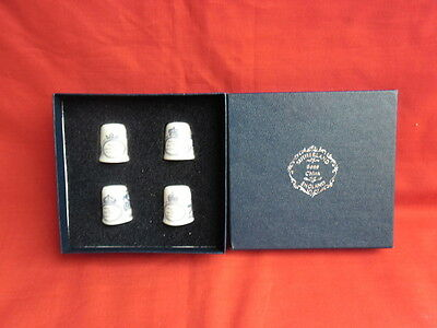 Sutherland Set of 4 Heart Shaped Thimble Royal Brides/Mistresses