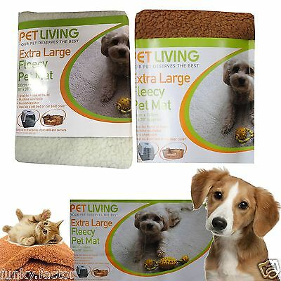 Branded Pet Living Soft Luxury Extra Large Fleecy Pet Mat Dogs Puppy Cat Blanket