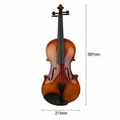 4/4 Full Size Natural Acoustic Wood Color Violin Fiddle with Case Bow Rosin BY