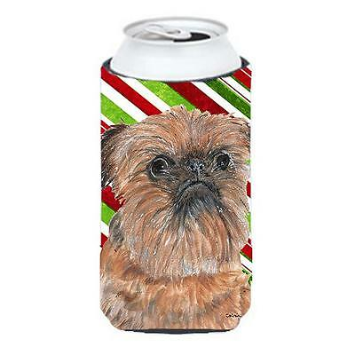 Brussels Griffon Candy Cane Christmas Tall Boy bottle sleeve Hugger 22 To 24 oz.