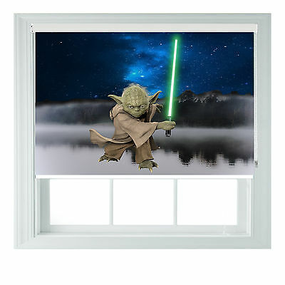 Yoda star wars themed black out roller blind various sizes rollo