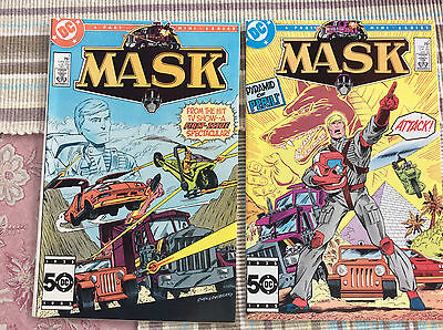 Mask #1-4..complete Mini Series.. Based On Cartoon Tv Show..near Mint....